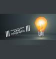 bulb business infographic black studio vector image