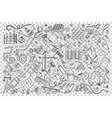 buliding doodle set vector image vector image
