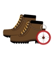 camping boots shoes with isolated icon design vector image