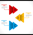 creative colorful arrow info-graphics design conce vector image vector image