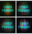 cyber monday poster set vector image vector image