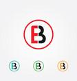 e and b logo vector image