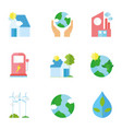 ecology renewable environment recycle icons vector image
