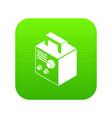 electro welding machine icon green vector image vector image