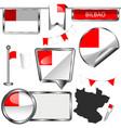 flag bilbao spain vector image vector image
