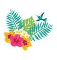 floral paradise tropical leaves vector image