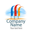 graphic color symbol for company leaders vector image
