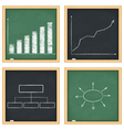Graphs and diagrams on blackboards vector image vector image