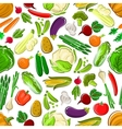 Healthy and raw farm vegetables seamless pattern vector image vector image