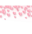 heart seamless background with light pink paper vector image vector image