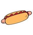 Hotdog symbol vector image vector image