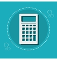 icon calculator e- commerce design vector image