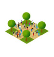 isometric people lifestyle communication in an vector image vector image