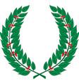 laurel wreath - symbol of victory and achievement vector image vector image