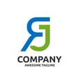 letter rj logo design vector image vector image