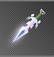 magic dagger isolated game element vector image vector image
