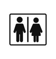 man and woman icon in modern design style for web vector image