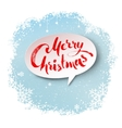 Merry Christmas banner on snowflakes background vector image vector image