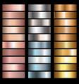 metals gradients vector image vector image
