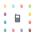 mobile phone flat icons set vector image