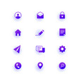 modern web icons pack base set icons for site vector image vector image