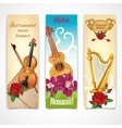 Music instruments banners vector image vector image