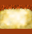 nature realistic background in autumn colors vector image vector image