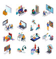 online library set vector image vector image
