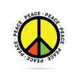peace symbol element vector image