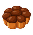 pie icon homemade pastry round baked dessert vector image