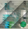 polygonal mosaic background low poly style vector image vector image