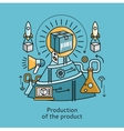 Production of Product Icon Flat Design Concept vector image