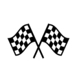 Racing flag Icon Flat vector image