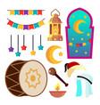 ramadan icons muslim islam symbols moon vector image