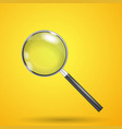 realistic magnifier isolated vector image