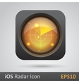 Realistic radar icon vector image