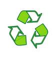 recycle logo concept lemon scribble icon vector image