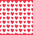 red hand-drawn hearts seamless pattern vector image