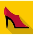 Red shoe icon flat style vector image vector image