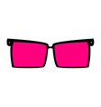 rose-colored glasses for eyes vector image vector image
