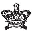 royal crown vintage engraving vector image vector image