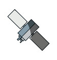 satellite space antenna vector image