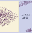 save date in vintage style floral decorations vector image
