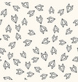 seamless paper fox origami pattern background vector image vector image