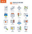 seo and data safety development technology vector image vector image
