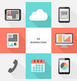 set 04 - flat design business icons vector image vector image