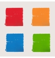 Set of watercolor squares of different colors vector image