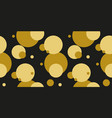 simple gold black circle seamless pattern vector image vector image