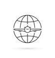 simple thin line international flight icon vector image vector image