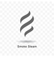 smoke steam icon vector image vector image